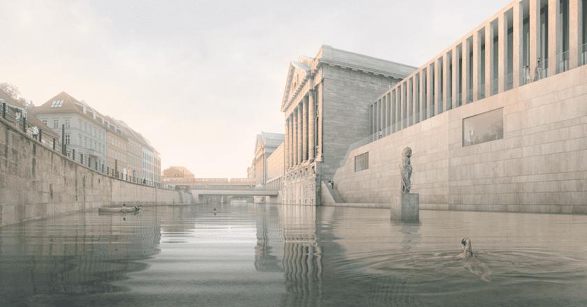 Perspektive James Simon Galerie | © 2016 realities:united/Flussbad Berlin e.V
