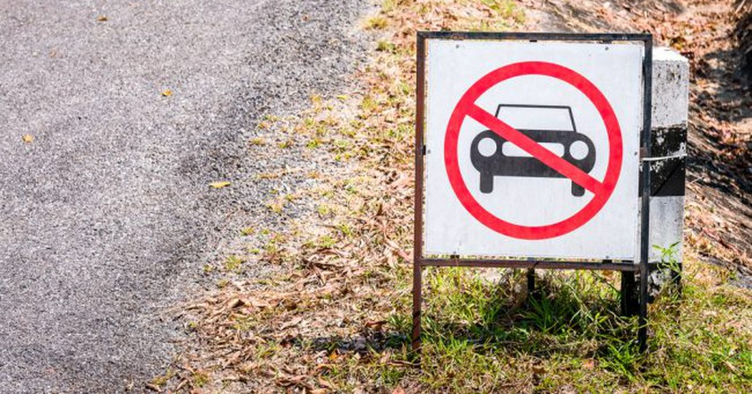 No cars allowed sign   © Geet Theerawat