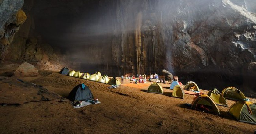 Camping at Son Doong Cave, the largest cave in the world | Courtesy of Oxalis Adventure Tours