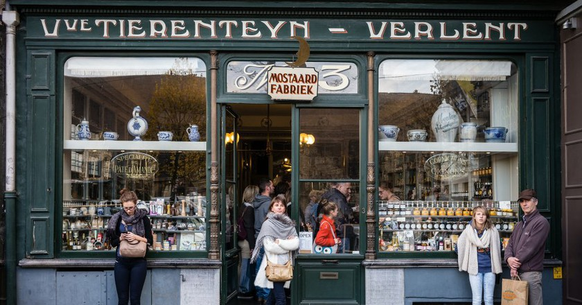 Tierenteyn-Verlent mustard and spice shop in the heart of Ghent   Courtesy of Visit Ghent