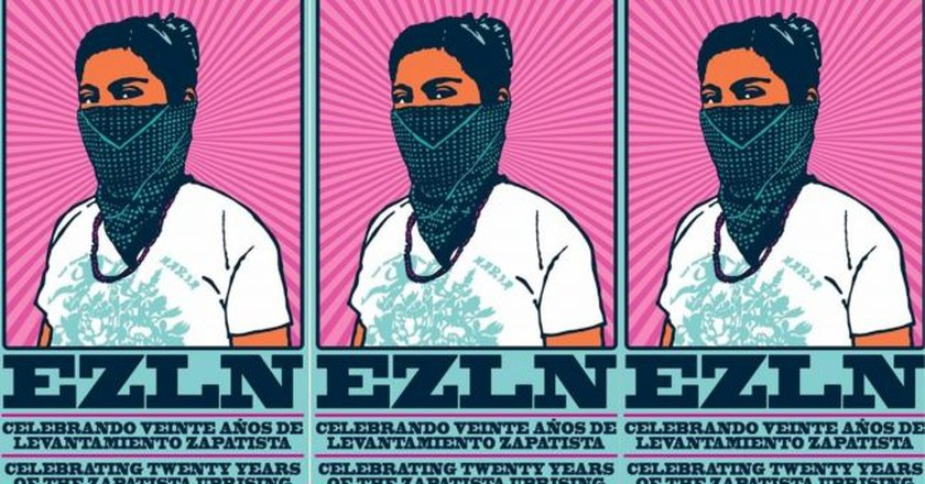 Poster celebrating 20 years of Zapatista action | © dignidadrebelde/Flickr