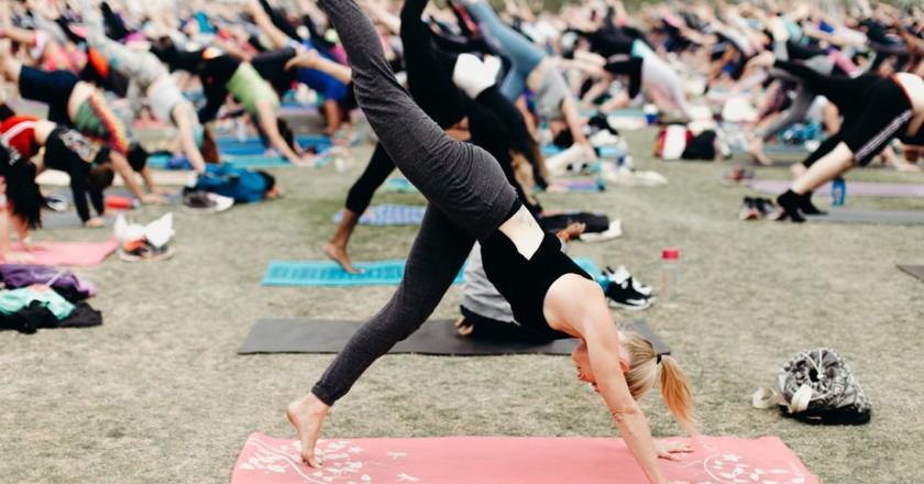 Yoga at Wanderlust 108