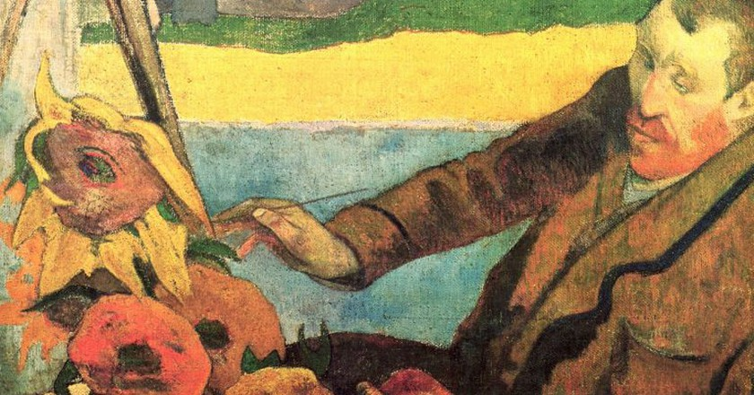 Paul Gauguin, Van Gogh Painting Sunflowers (1888) at the Van Gogh Museum | Via The Yorck Projec/WikiCommons