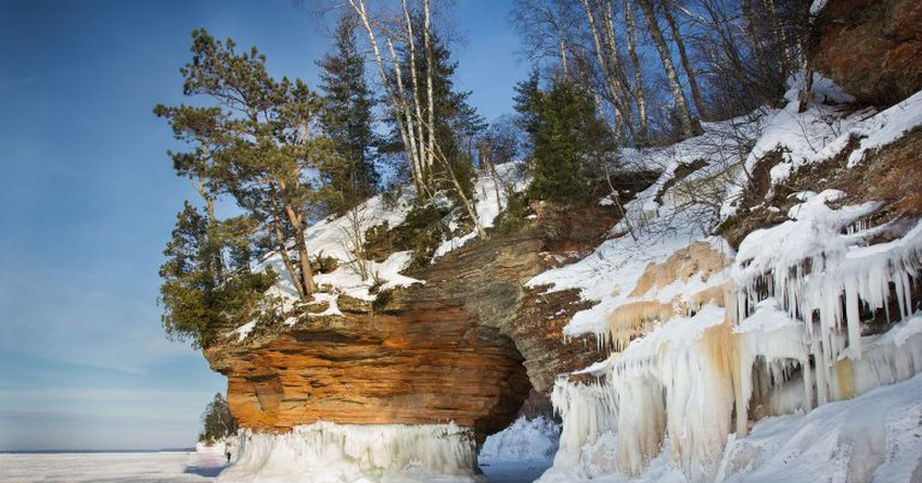 Apostle Islands sea caves | ©  Justin Meissen/Flickr