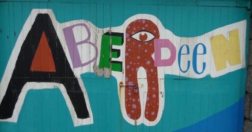 Sign Near Aberdeen Beach   © Iain Cameron/Flickr