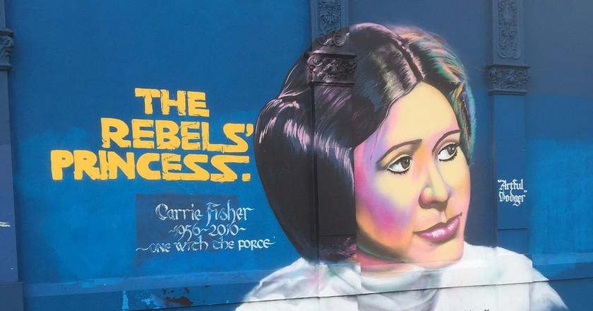 Carrie Fischer tribute | © Loz Pycock/Flickr