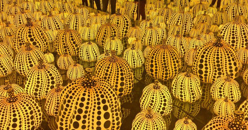 "Yayoi Kusama's ""Infinity Mirrors - All the Eternal Love I Have for the Pumpkins"" installation, 2016 