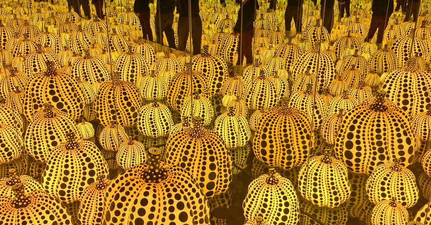 """Yayoi Kusama's """"Infinity Mirrors - All the Eternal Love I Have for the Pumpkins"""" installation, 2016 