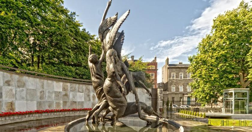 Children of Lir statue by Oisin Kelly, in Dublin's Parnell Square
