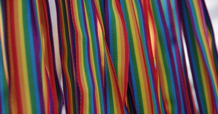 Rainbow straps of pride whistles