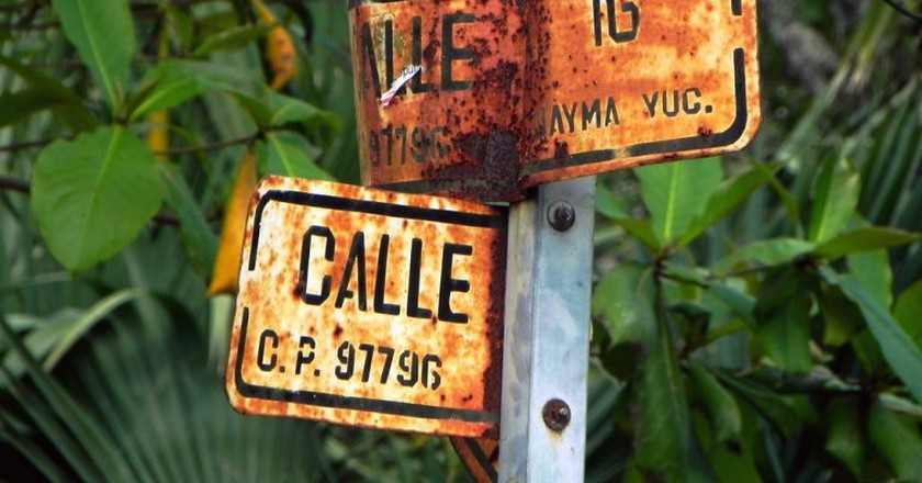 Street sign in Yucatán state | © Marysol/Flickr