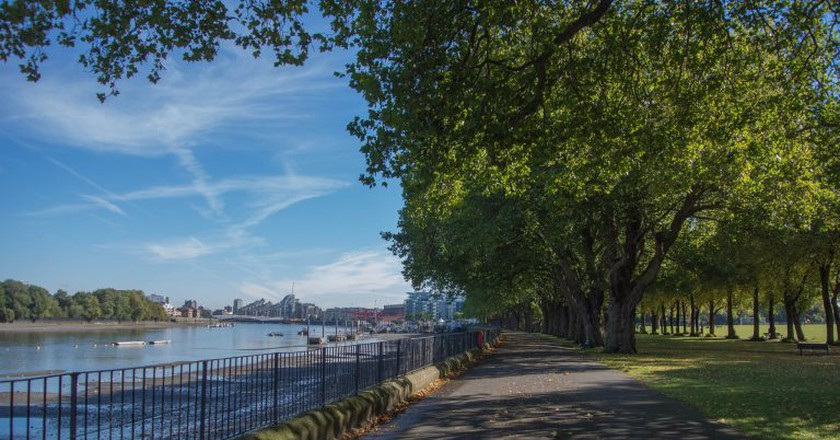 The view up to Wandsworth bridge | © Peter Sigrist/Flickr