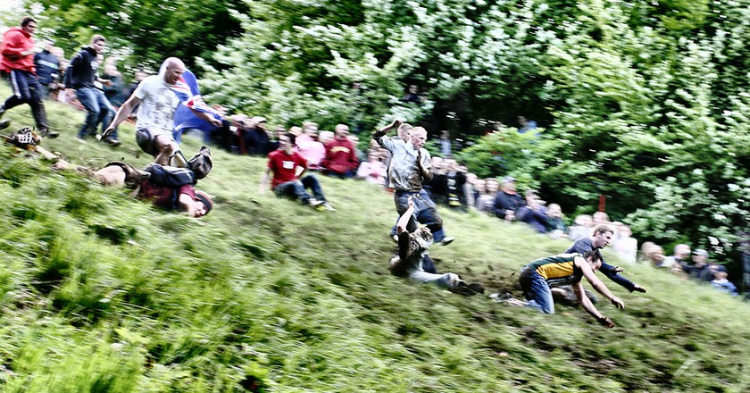 Cheese Rolling at Cooper's Hill   © Michael Warren/Flickr