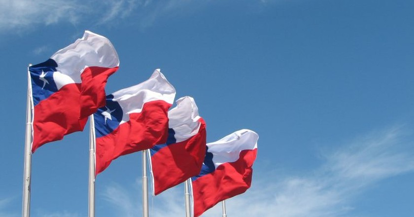 Chile flags | © Mark Scott Johnson/WikiCommons