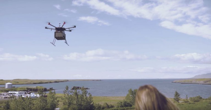 Drone deliveries are being trialled in Iceland | © Flytrex/Youtube