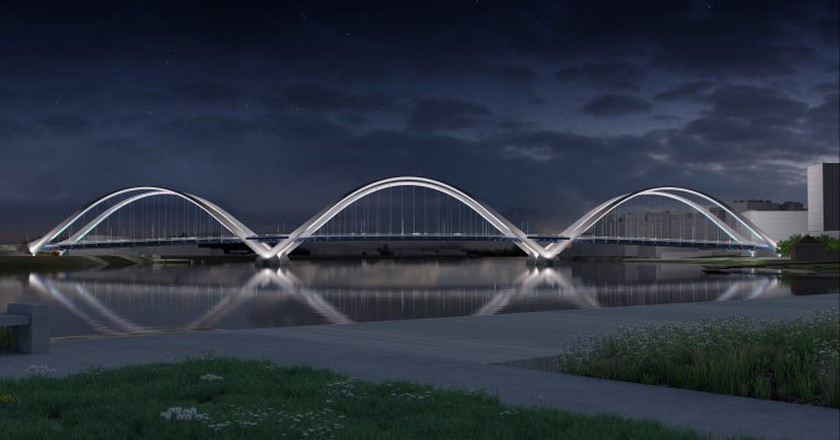New Frederick Douglass Memorial Bridge design | Courtesy of DDOT