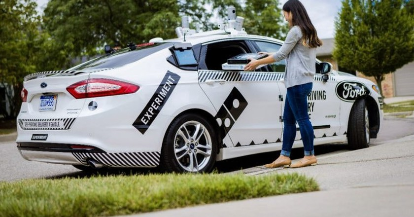 Ford and Domino's automated delivery research | Courtesy Ford