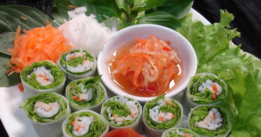 Fresh Spring Rolls   Courtesy of Komol Restaurant