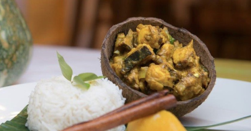 Octopus curry, a true Seychelles favourite. | Courtesy of Acajou Hotel