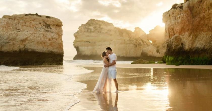 The Algarve provides the perfect romantic setting   © Matt and Lena Photography