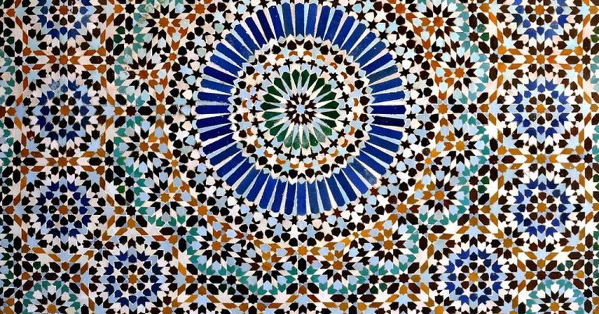 Striking Moroccan tile work, born in Fez | © Wikimedia Commons