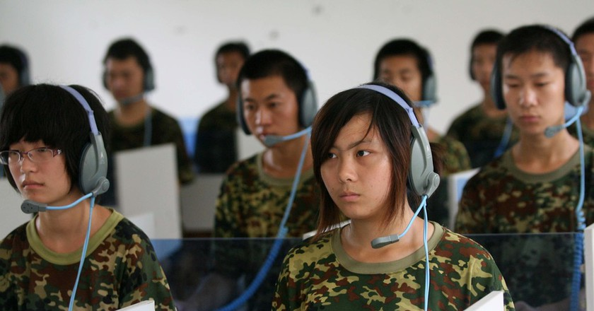 Teenagers receiving musicotherapy for giving up Internet addiction School to Give Up Internet Addiction, Jinan, Shandong Province, China  | © Photo by KeystoneUSA-ZUMA/REX/Shutterstock (1220311b)