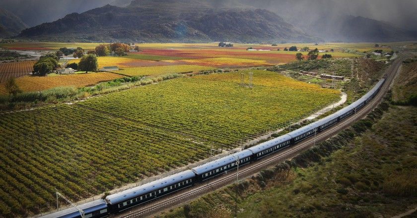 Rovos Rail travelling en-route to Cape Town   Courtesy Rovos Rail