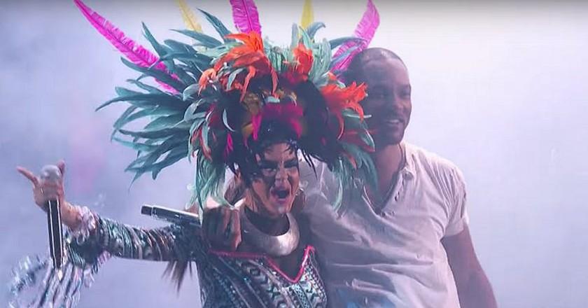 Will Smith and Bomba Estereo | Courtesy of The Latin Grammys