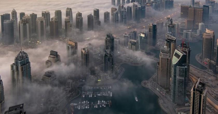 Dubai submerged in fog   © mohamed alwerdany/Shutterstock