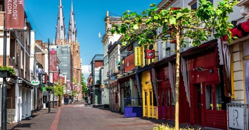 Colourful street in Eindhoven   © Alex Tihonovs/Shutterstock