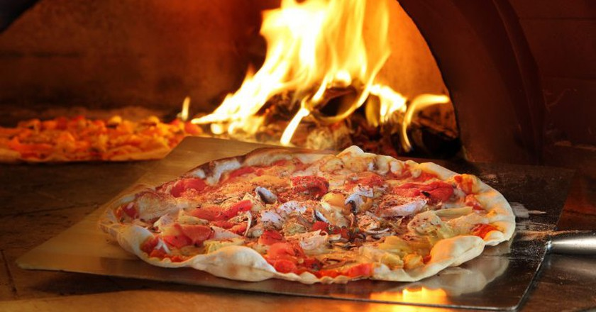 Wood Fire Oven @ Trapizza