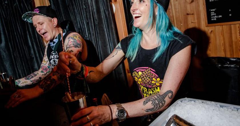 Trash Tiki's Iain Griffiths and Kelsey Ramage   © Josh Brasted