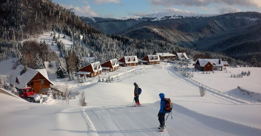 Groomed slopes wait for skiers at Donovaly Park Snow | © kovop/Wikimedia Commons