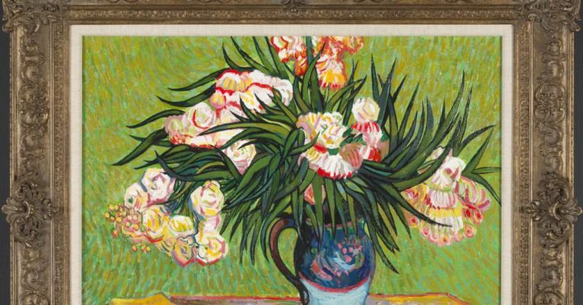 John Myatt's copy of Oleanders, after Vincent Van Gogh, 2012   Courtesy of Washington Green Fine Art.