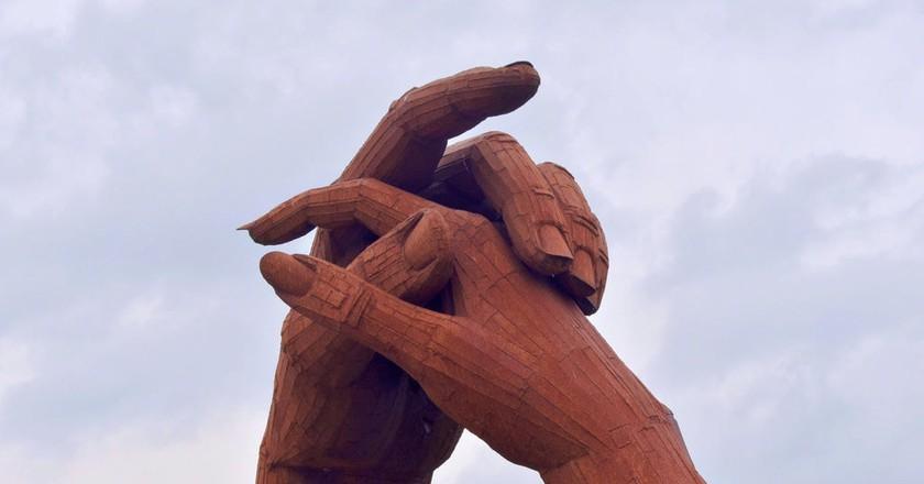 Holding Hand Sculpture, Gretna Green