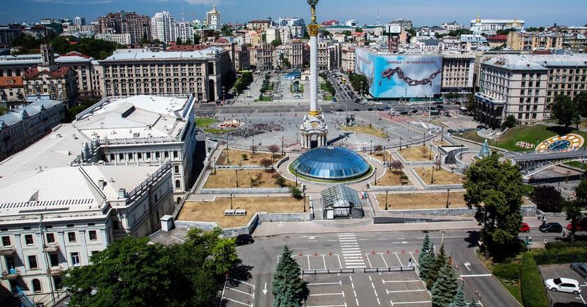 Maidan Nezalezhnosti (Independence Square), Kiev | ©Balazs Ari / Flickr