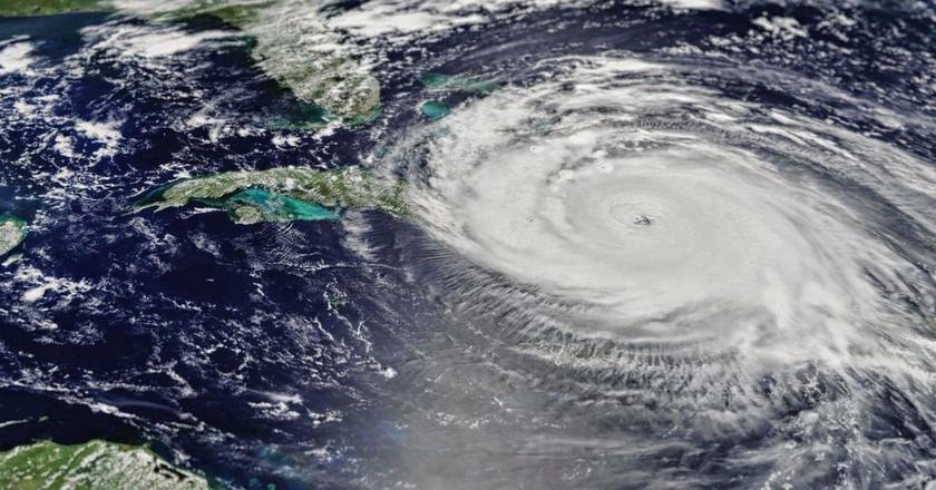 Hurricane Irma storm path | © NASA's MODIS/Terra satellite image/Flickr