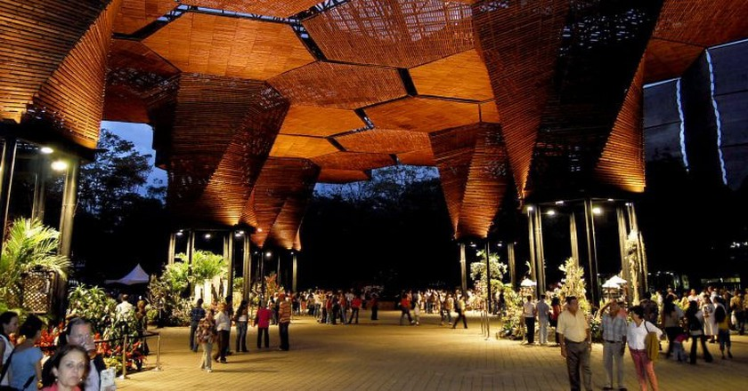 A beautiful installation in the Medellín Botanical Gardens