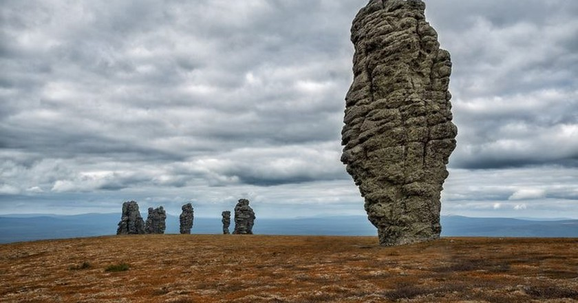The pillars of weathering, The Republic of Komi, Russia