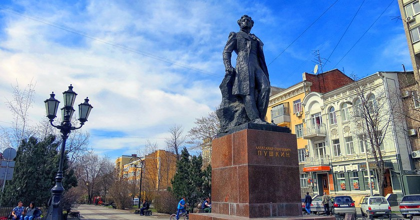 Statue of Alexander Pushkin in Rostov-on-Don | © Rost.galis / WikiCommons