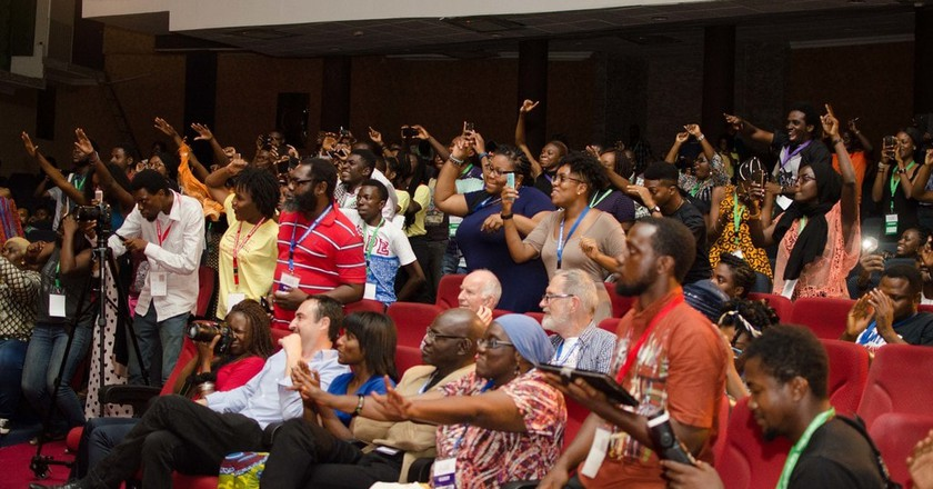 Ake Book and Art Festival crowd during Brymo's Concert | © CC5 Pebbles, courtesy Ake Arts and Book Festival