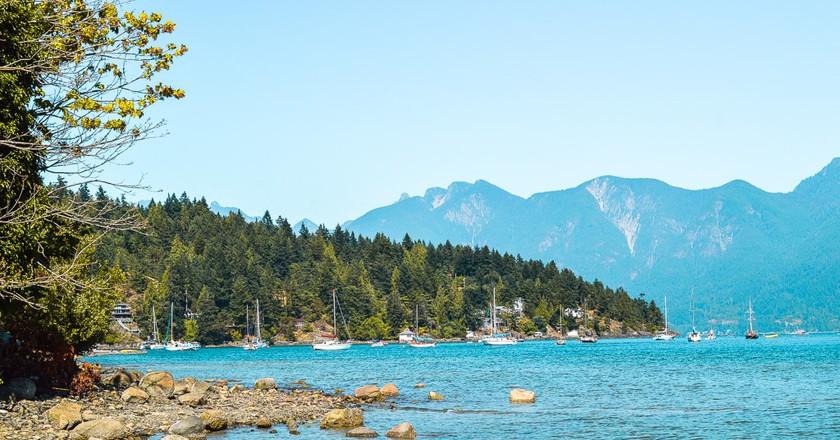 Beautiful views on Bowen Island   © Hayley Simpson
