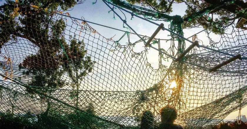 Fishing net hammocks on Bryher, Isles of Scilly | © Lauren Williams