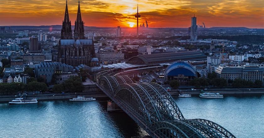 Cologne sunset | © GerdRohsDesign/Pixabay