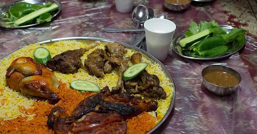 Emirati Mandi dish