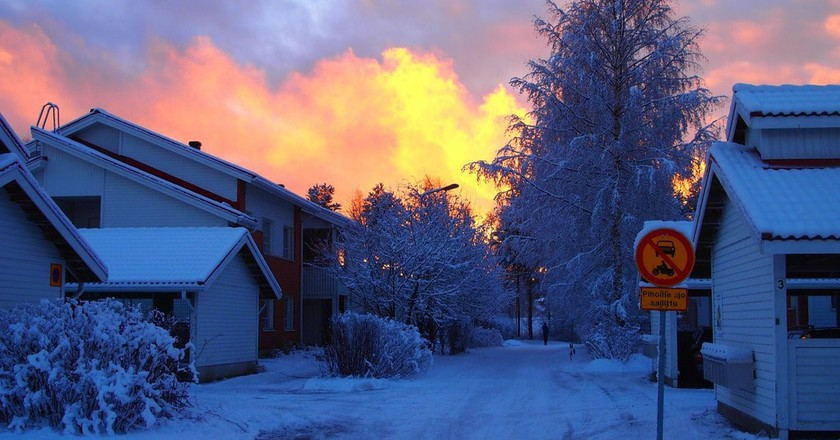 Finnish street during winter / Sarari1123 / Pixabay