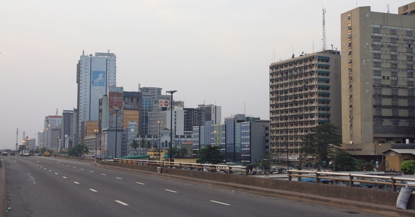 A line-up of skkyscrapers, Lagos   © Clara Sanchiz/WikiCommons