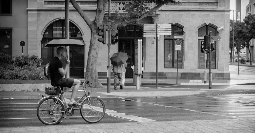 Cycling in the rain in Cologne | © Markus Goller / Flickr