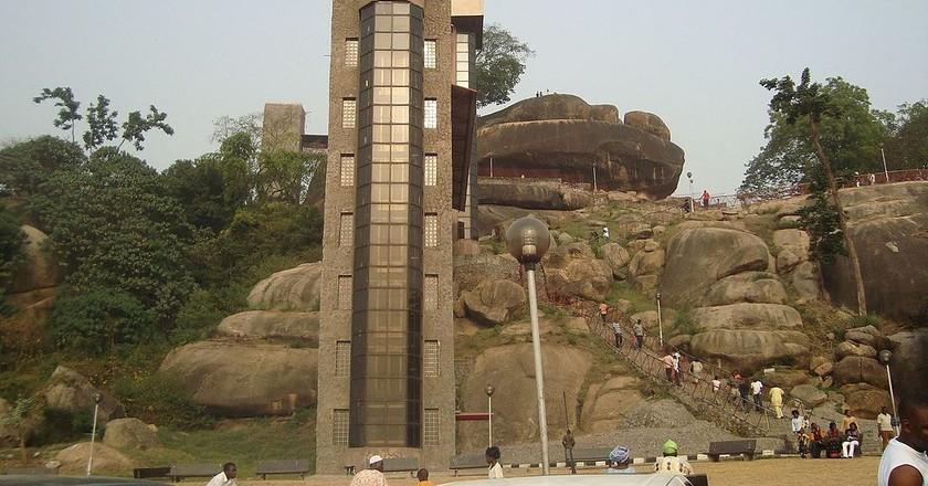 """<a href = """"https://commons.wikimedia.org/wiki/File:Olumo_Rock.jpg""""> Olumo Rock   © Adenle Adeoti/Wikimedia Commons"""