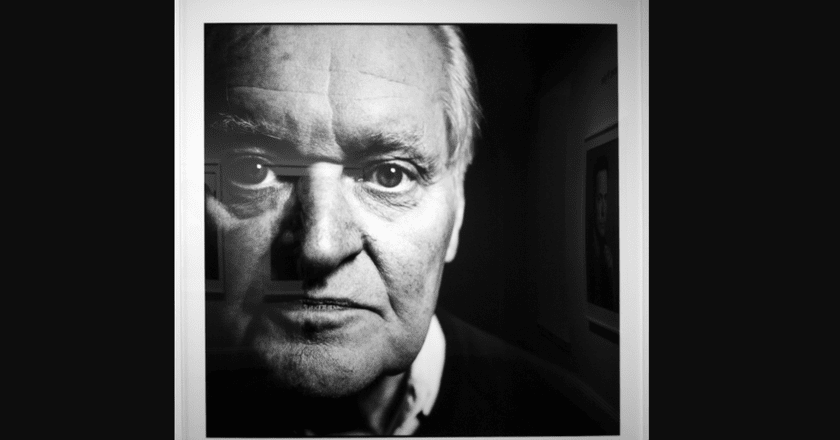 Photo of a photo of Ashbery | Steven Pyke / Flickr